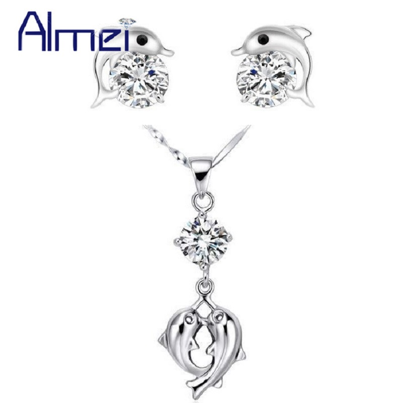 Aliexpress.com : Buy Almei Animal Necklace and Earring Set