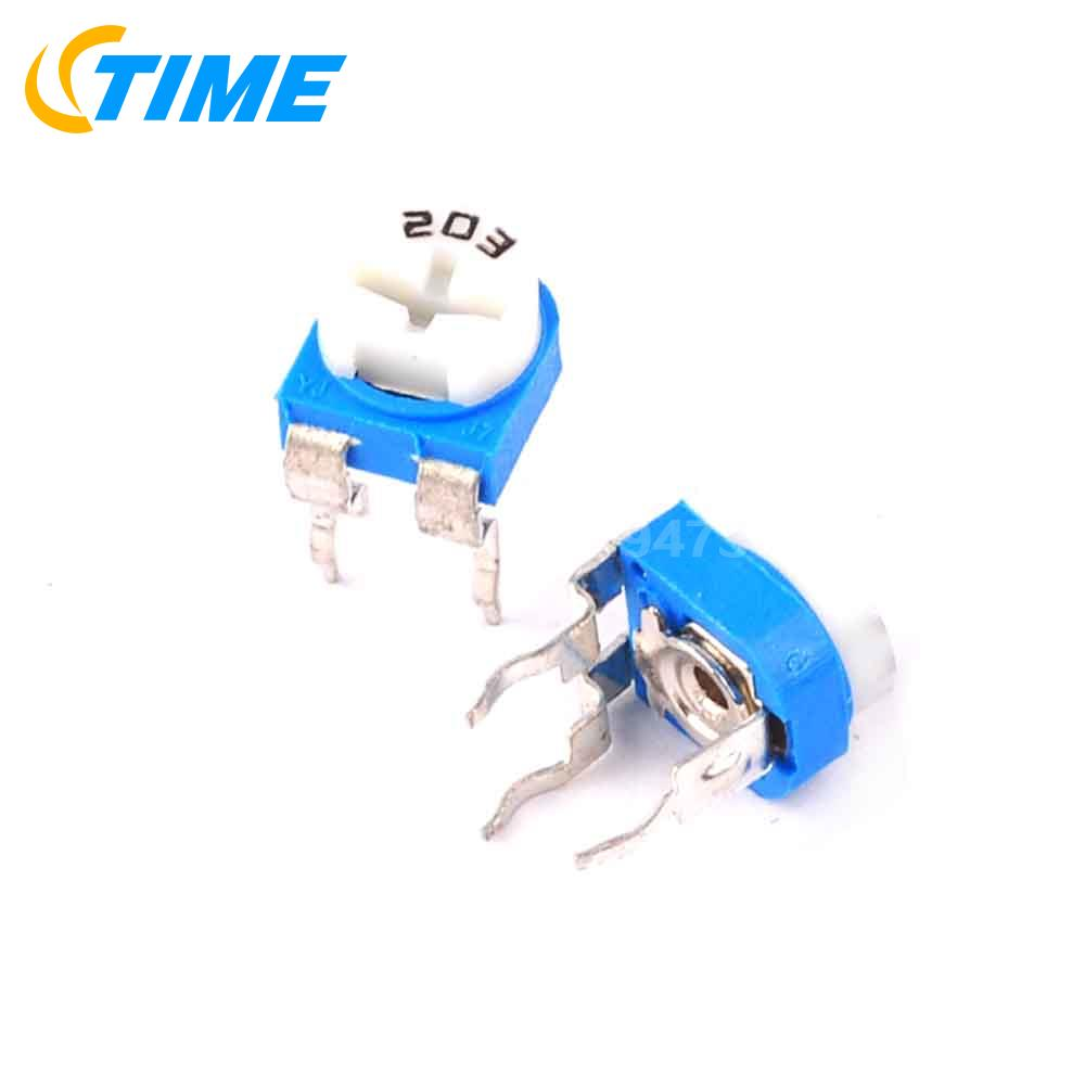 Detail Feedback Questions About 100pcs 20k Ohm 203 Trimpot Trimmer Wiring A Potentiometer As Variable Resistor Pot On Alibaba Group
