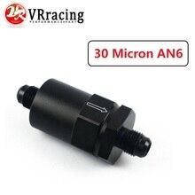 VR RACING-AN-6(AN6) черный анодированный Заготовка топливный фильтр 30 микрон VR-SLF0209-06