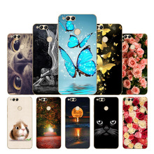 купить Soft TPU Honor 7X Case Cover Drawing Painted 5.93 For Huawei Honor 7X Honor 7X Cool Cute flowers Protective Phone Cases Cover дешево