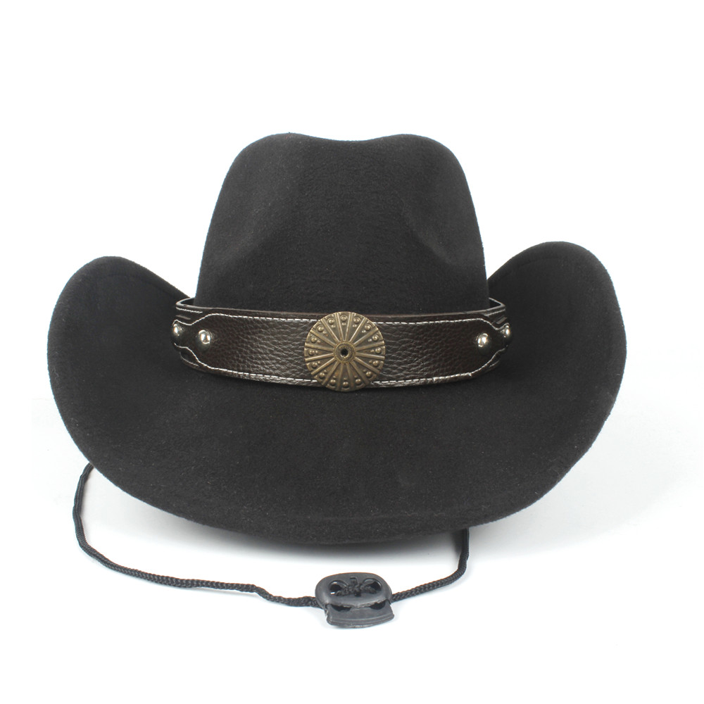 2019 Delle Donne Degli Uomini Di Lana Scava Occidentale Cappello Da Cowboy Cowgirl Cappello Signore Outblack Sombrero Hombre Protezione Di Jazz Cap Equestre Sconto Online