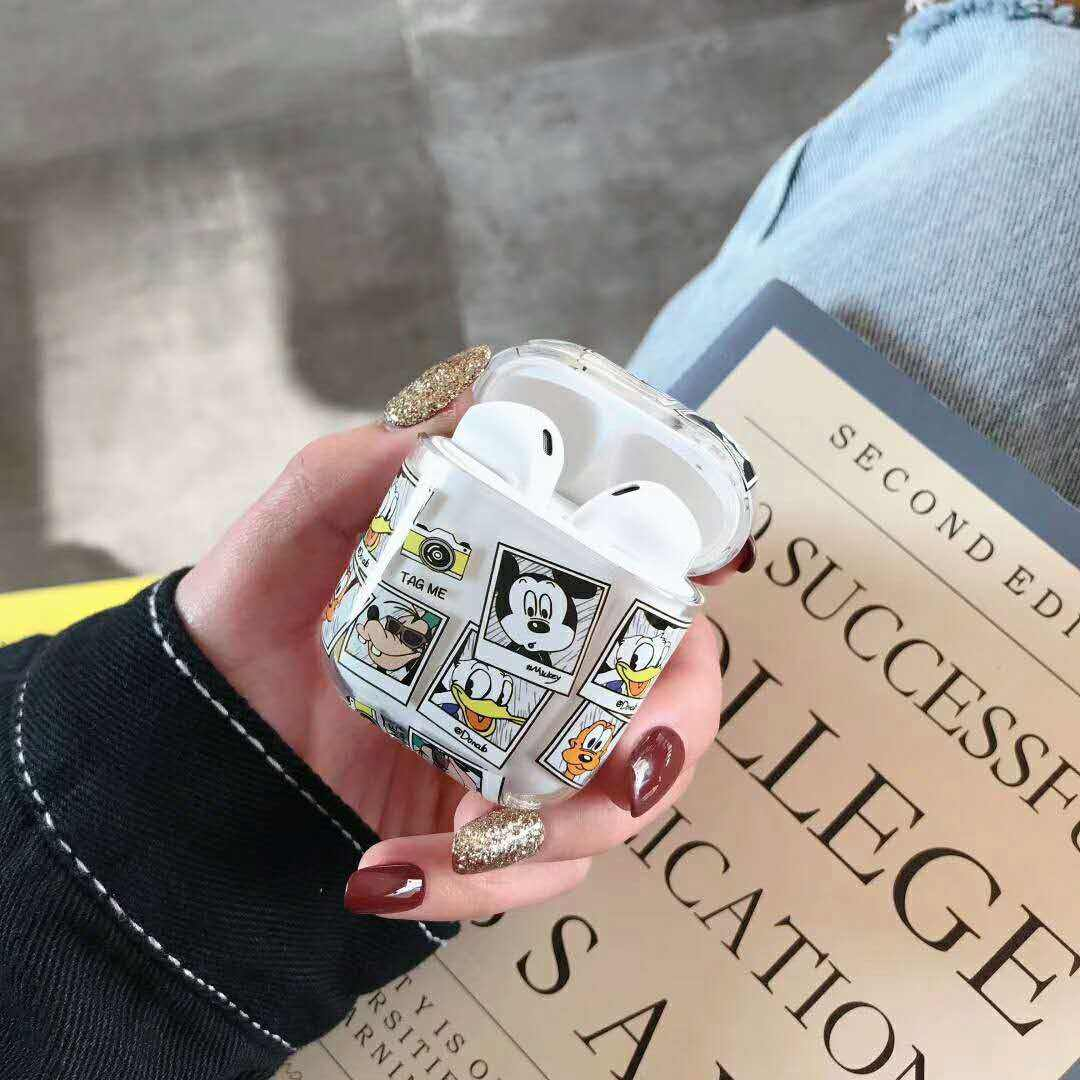 Cute Wireless Earphone Case For Airpods Cases Transparent Hard Case For Air Pods Cartoon Cover For Airpod Charger Protective Box