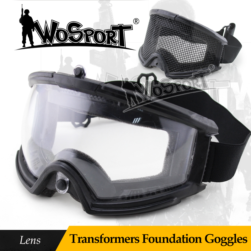 WoSporT Tactical Airsoft Paintball Transformers Goggle Of Lens Military Army Combat CS Field Eyeshield Protect Glasses