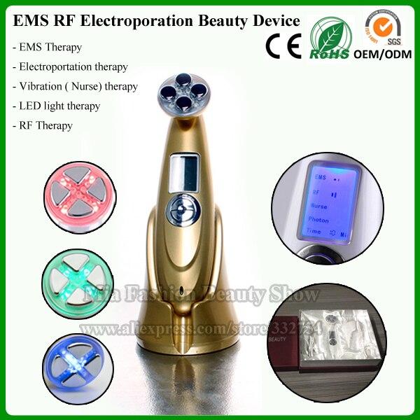 Portable 3 in 1 Digital LCD RF Themrage EMS Microcurrent Face Lifting Slimming Photon Skin Rejuvenation Beauty Massager