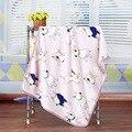 2016 Bonito Cobertor Do Bebê Do Algodão Camada Única Toalha De Bebê Recém-nascido Cobertor de lã Ar Condicionado Cobertor Cobertor Do Bebê Swaddle Envoltório Infantil 100*75 cm