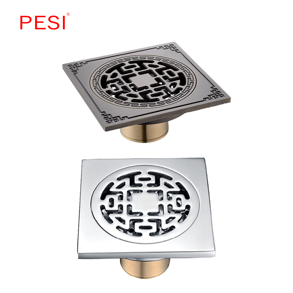 4 Inch Square Odor Resistant Floor Drain Cover Rectangle