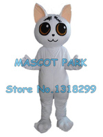 white cat mascot costume custom cartoon character cosply carnival costume SW3060