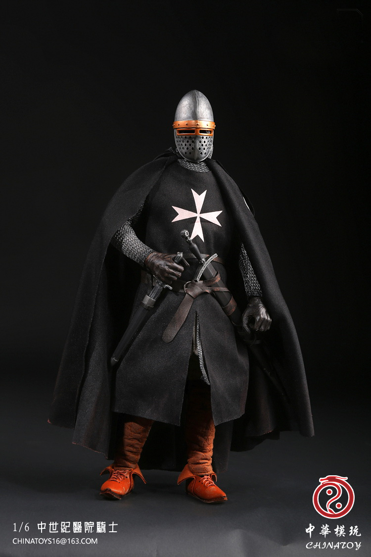 1:6 Super flexible figure 12 action figure doll Collectible Model plastic toys middle Ages Crusader Warrior Hospital Knight