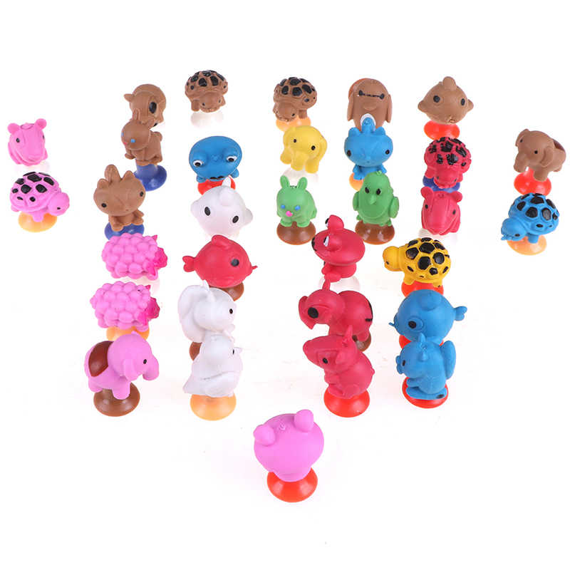 2 pçs/lote mini monstro otário cápsula modelo pouco anime dos desenhos animados animal figuras de ação ventosa brinquedos para crianças