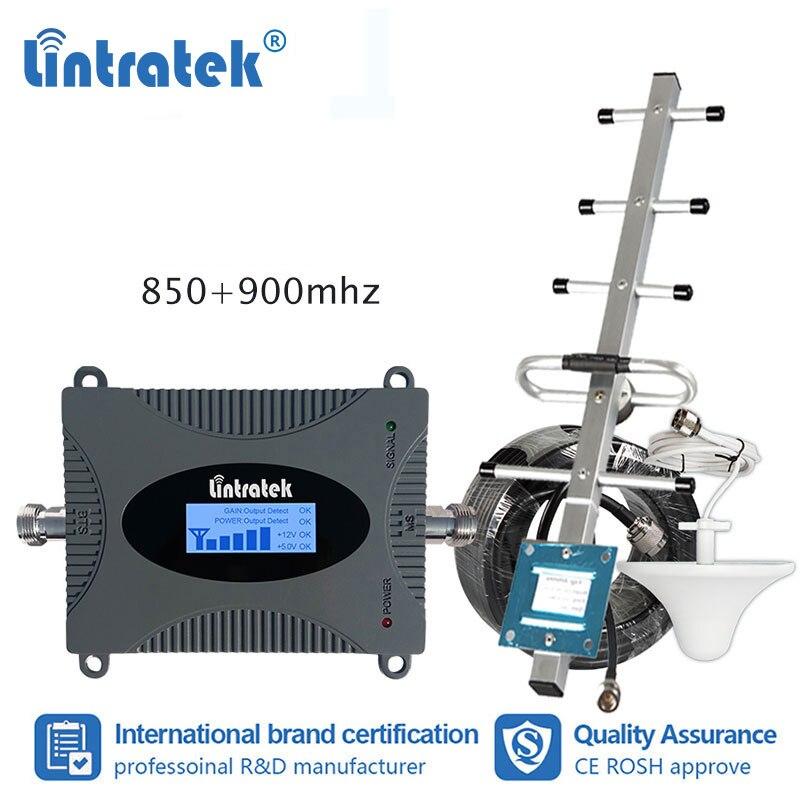 Lintratek MINI 2G 3G 4G 900 mhz amplificateur de Signal cellulaire GSM UMTS LTE 900 amplificateur de plafond antenne + 15 m Rg6 jeu de câbles # sk