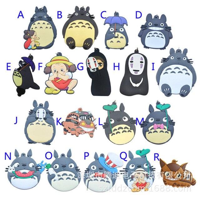 anime Spirited Away pvc keychain Miyazaki Hayao My Neighbor Totoro man woman cute funny pendants Toy party gift Keyring Llaveros