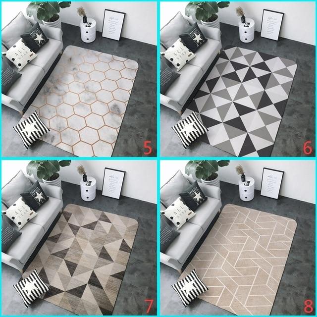 1Pc Non-slip Geometric Carpet for Bedroom Living Room Sofa Tea Table Rugs Modern Footcloth Big Floor Mat Home Tapete