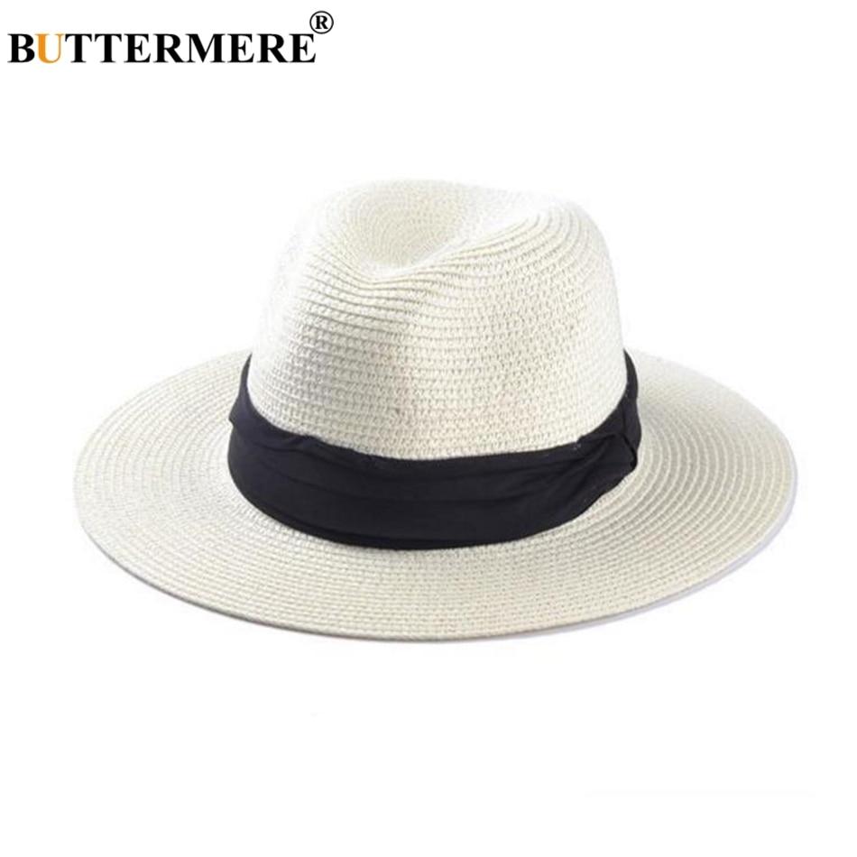 Kopfbedeckungen Für Herren Offizielle Website 2019 Frauen Und Männer Neue Mode Stroh Sommer Casual Trendy Strand Sonne Stroh Panama Jazz Hut Cowboy Fedora Hut Gangster Kappe