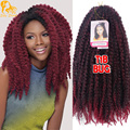 20Roots Crochet Marley Braids Hair 18'' Afro Kinky Ombre Synthetic Marley Braiding Hair colors 100g Cheap Soft Marley Twist Hair
