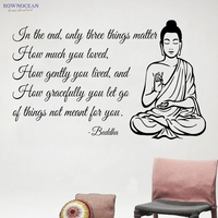 Buddha Statue Meditating Vinilos Art Wall Sticker Text Sofa Background Deity Posters On The Wall Home Decor For Living Room F-01