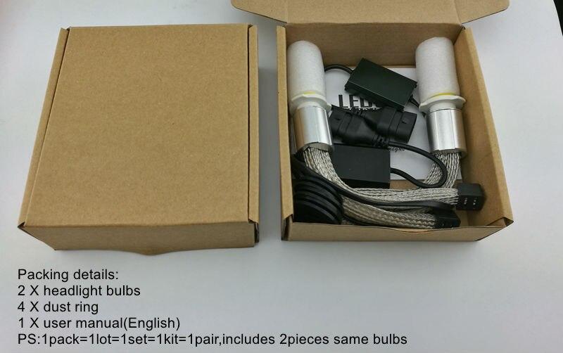 Ossen P70 H7 LED Bulb Headlight XHP-70 Chips 110w 13200lm 5000K Super White All In One Headlights Fog Lamp Conversion Kit H4 H11  2
