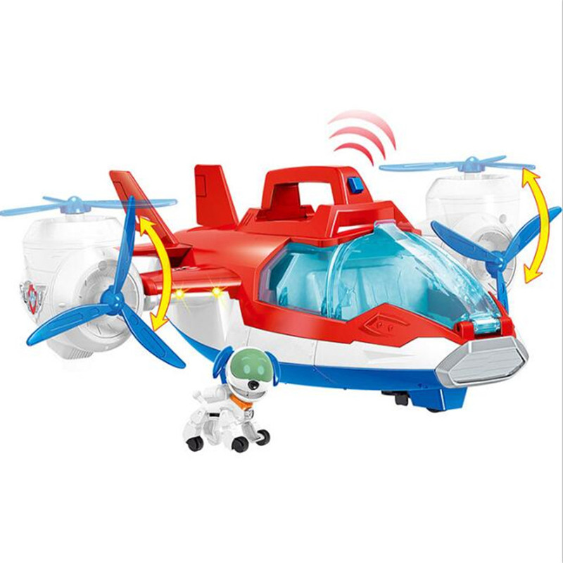 Genuine Paw Patrol Air Patrol Aircraft Ryder Captain Robot Dog Plane Toy Action Figure Model Patrulla Canina Toys For Children