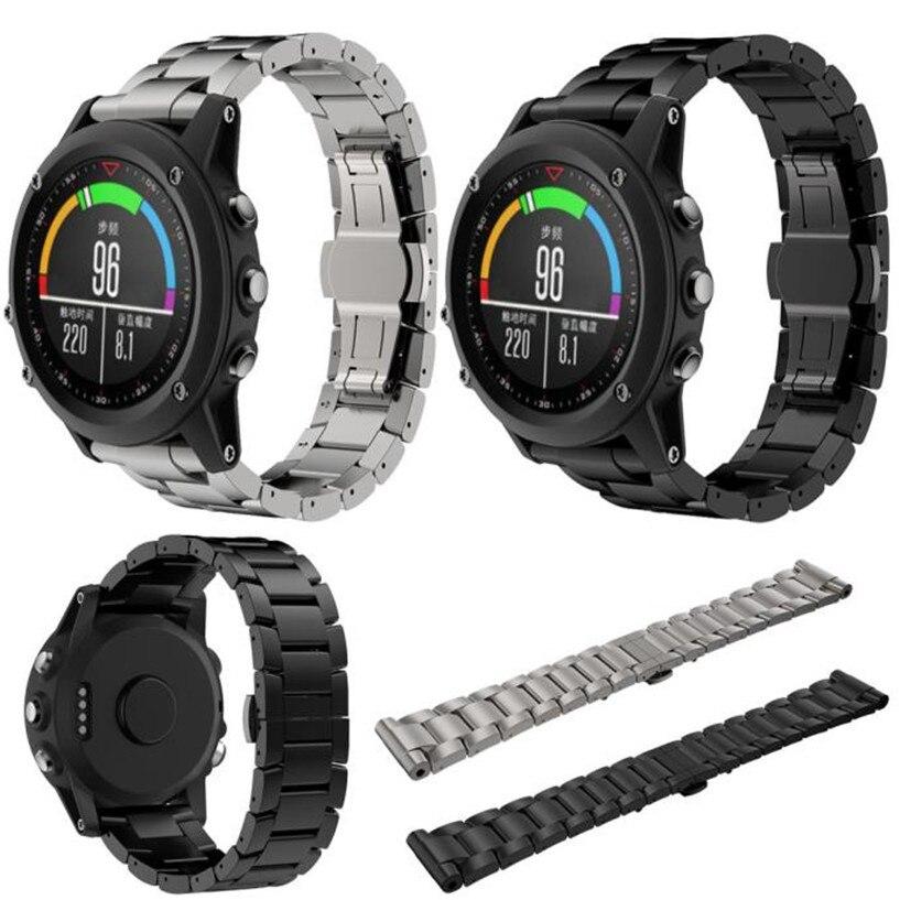 OTOKY Watchbands Titanium Steel Bracelet Strap Smart Watch Strap For Garmin Fenix 3 / HR Wholesale garmin fenix 3 hr steel on black