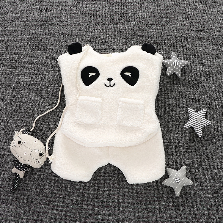 Girl baby clothes 2016 new autumn winter girls baby outfits vest+pant 2pcs clothes newborn suit cute panda style baby boys set chinese tang style new baby girl clothes autumn 2017 new born baby girl sets clothing baby clothes china newborn layette 2pcs