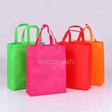 100PCS Promotional Cheap Eco-friendly Customized Shopping Non Woven Bag w/ Handle , Custom LOGO Printed Non-Woven Bag