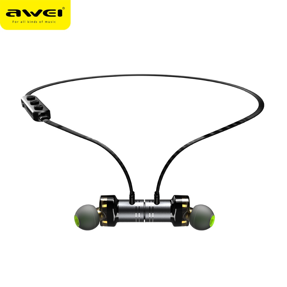 AWEI Newest X670BL Bluetooth Headset Dual Driver Wireless Headphones Bluetooth Earphones with Mic Super Bass Earbuds Stero sound awei t1 wireless bluetooth earbuds black