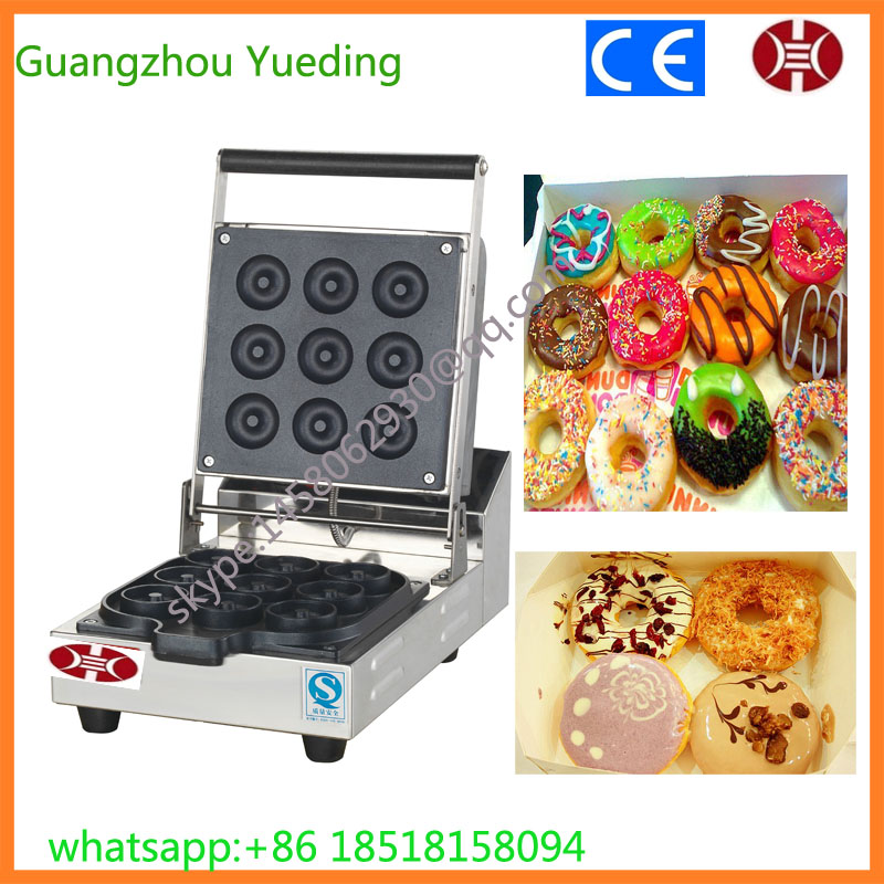 CE approved Professional automatic Nine grid baked Mini Donut Machine ...