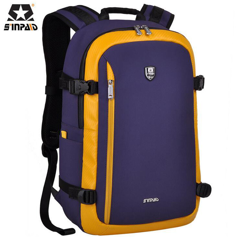 SINPAID 15.6 inch Laptop Bag Leisure Schoolbag For College Students Korean Daily Backpack High Quality Oxford Travel Bag M662 lowepro protactic 450 aw backpack rain professional slr for two cameras bag shoulder camera bag dslr 15 inch laptop
