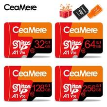 CeaMere Micro SD 카드 Class10 UHS 1 8GB Class6 16GB/32GB U1 스마트 폰용 64GB/128GB/256GB U3 메모리 카드 플래시 메모리 Microsd