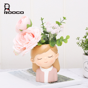 Image 2 - Home decoration accessories flower pot decorative small succulent plant pot wedding gifts birthday present desktop decorations