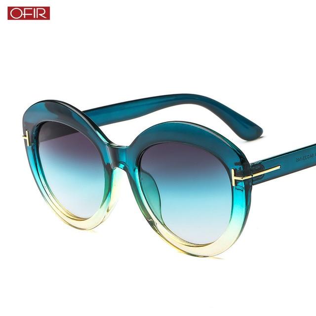d63a8453468b OFIR New fashion T-shaped sunglasses Men and women trend retro round frame  sunglasses Women s wild big box sunglasses UV400