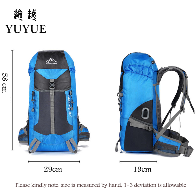 Hot Outdoor Bag Camping Hiking 45L Hiking Backpack Outdoor Backpacks Nylon Sport Bag Multi-purpose Climbing Bags 5