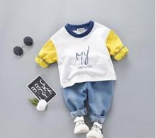 Color Matching Children Suit 2019 Spring Kids Clothes 1 2 3 4 Years Toddler Baby Girl Boy Clothes Child Sports Suit SY-F191225 sweet years sy 6130l 24