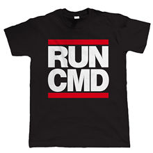 T Shirts With Sayings  Crew Neck Graphic Short Sleeve Cool Runing Cmd Web Develop Pc Gam Geek Mens