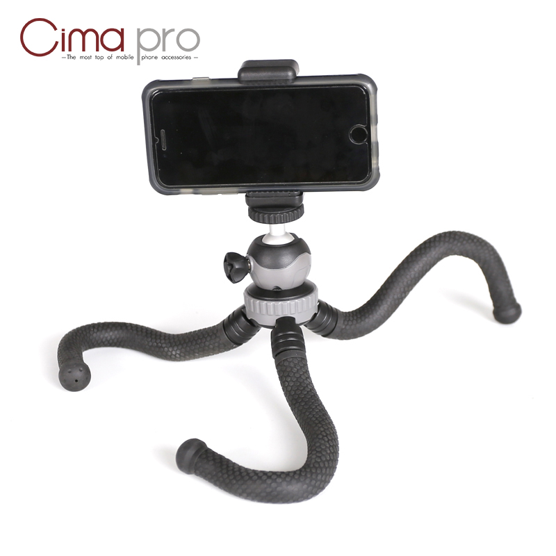 Image 4 - Cima pro RM 30 Travel Outdoor Mini Bracket Stand Octopus Tripod flexible tripe For phone Digital Camera GoPro-in Live Tripods from Consumer Electronics