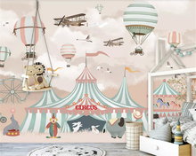 beibehang Custom silky papel de parede 3d wallpaper Nordic modern airplane personality hot air balloon children room background