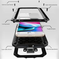 Luxury Armor Fundas Coque For Apple IPhone 8 Case Metal Aluminum Silicone Heavy Duty Mobile Phone