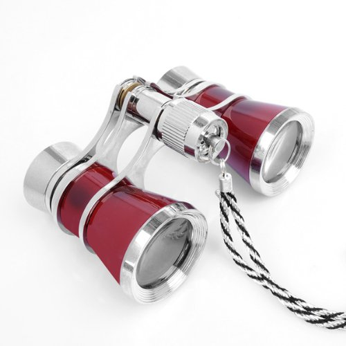 Popular Exquisite Theater opera 3x25 Glasses Coated Red font b Binocular b font Telescope