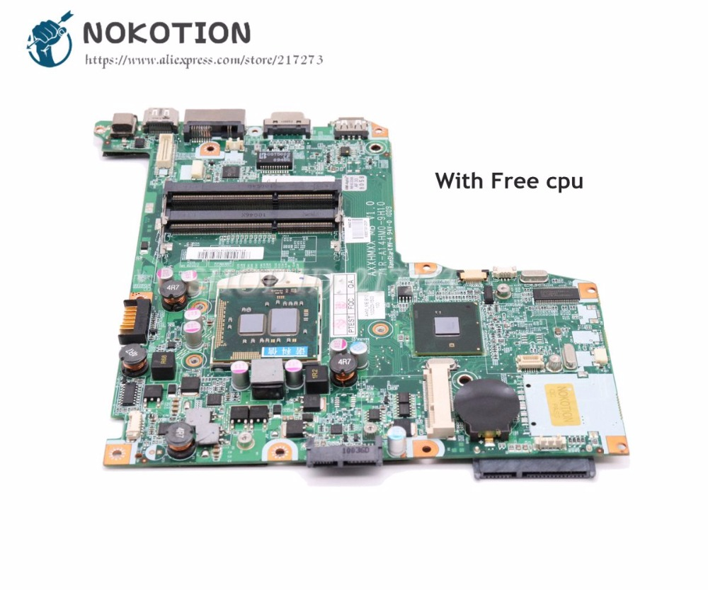NOKOTION For ADVENT Sienna 300 510 Laptop Motherboard 71R-A14HM0-9H10 Main Board HM55 DDR3 Free Cpu