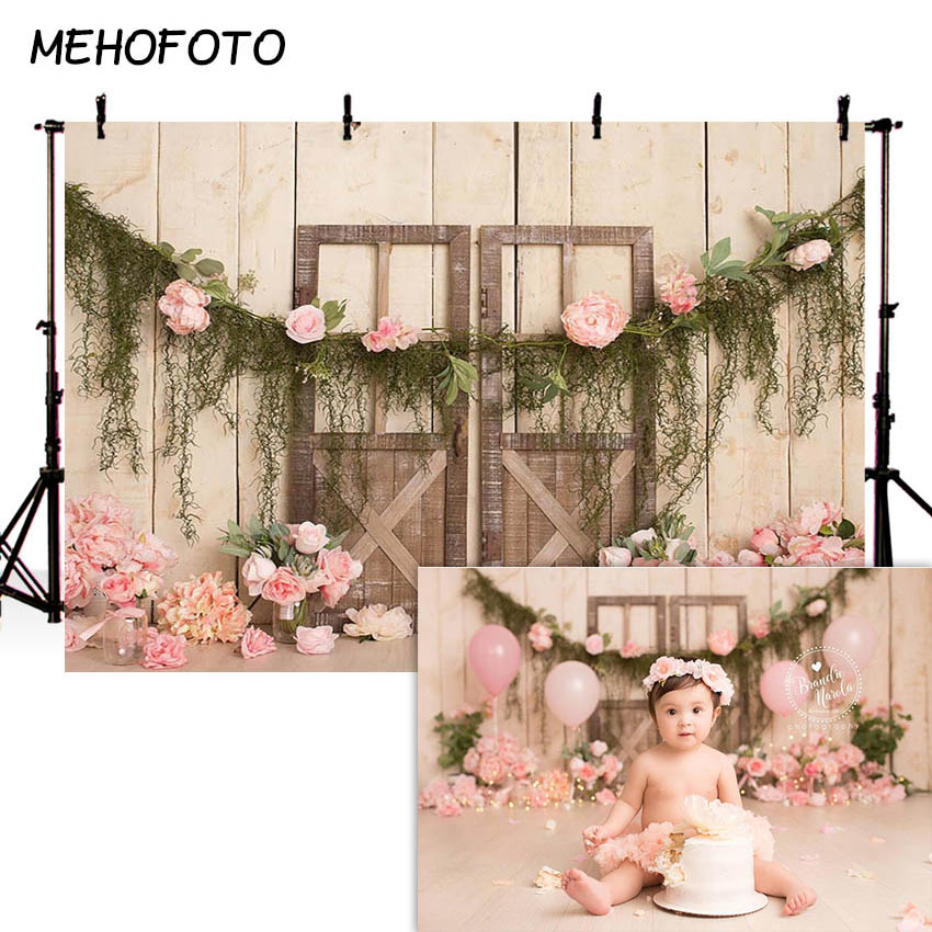 MEHOFOTO Newborn Baby Floral Photography Backdrops Children Photographic Studio Photo Background Birthday Decorations Prop