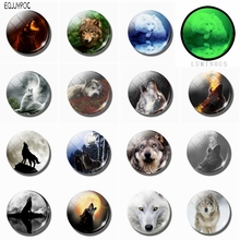 Cool Wolf Refrigerator Magnets Glass Dome Luminous Magnetic Sticker Super Discount 15 Pcs/set Wolfish Fridge Magnet 25 MM 30