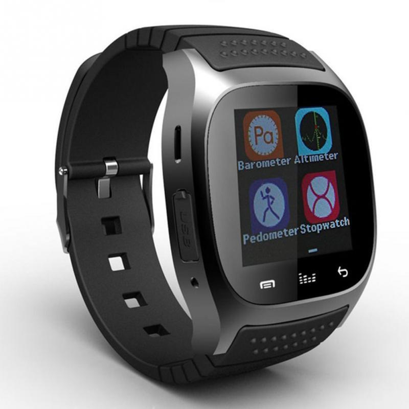 imágenes para Reproductor de Música Bluetooth M26 4.0 Reloj Inteligente Con Alitmeter Llamada SMS Recordar Para IOS para Android Smartwatch Podómetro