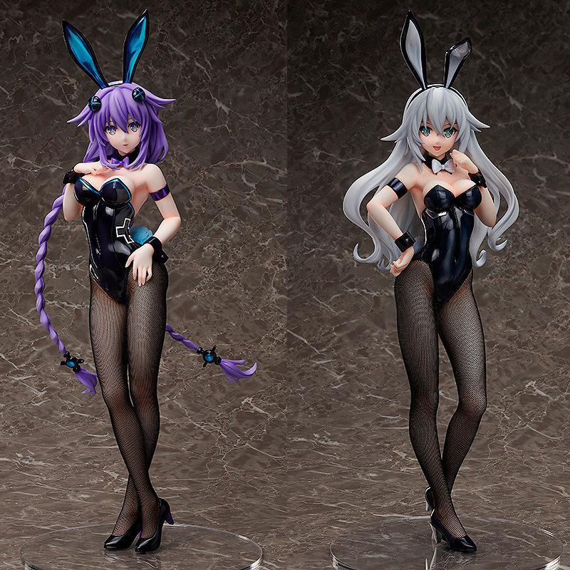 Hyperdimension Neptune Black Heart Action Figures Sexy Bunny Girl Purple Heart Plus Size Collectible Toys 43cm