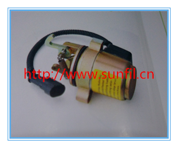 Wholesale 0427 7583 04277583 Fuel Shutdown Solenoid Valve for D Engine free fast shipping by dhl,ups,fedex,tnt.... wholesale replace fuel shutdown shut off solenoid valve 110 6466 6t 4121 1106 12v466 free fast shipping by tnt dhl fedex ups