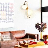 SGROW Творческий бра освещение Европейский круглый стеклянный шарообразный абажур бра для Спальня Лестницы Гостиная светильники