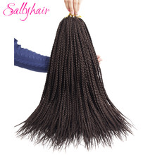 Sallyhair Crochet Braids Hair 18inch 22strands/pack Ombre Braiding Hair Extensions Afro Hair Styles Box Braids Brands Hair(China)