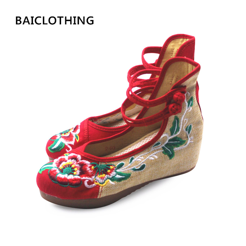 BAICLOTHING women casual retro dance shoes lady chinese stylish embroider print shoes zapatos de mujer female spring floral flat cresfimix zapatos de mujer women casual plus size retro flat shoes lady leisure spring