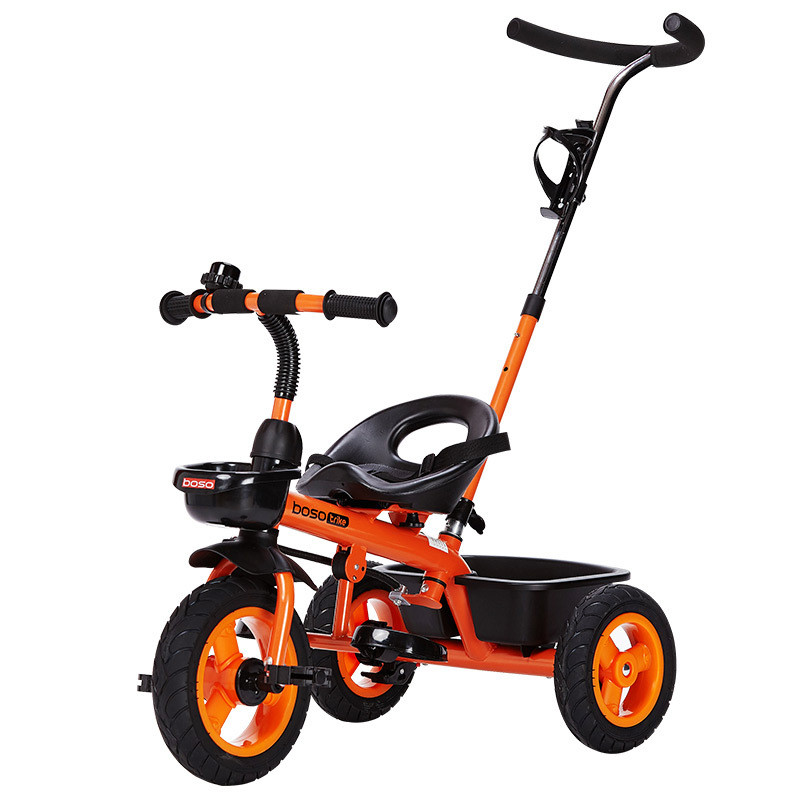 2017 New Baby Trolley Stroller with Double Brake Inflatable Titanium Wheel Children Tricycle yellow, green, white, pink, orange the new children s relectric car tricycle motorcycle baby toy car wheel car rechargable stroller drive by foot pedal with music