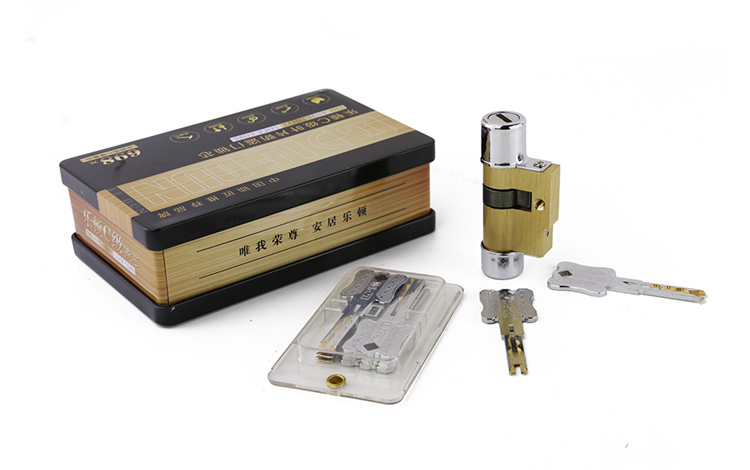 Hot Sell!High Quality Super C Type Lock Cylinder with 8 Keys, Steel Shell Anti-Theft Lock for Home Use