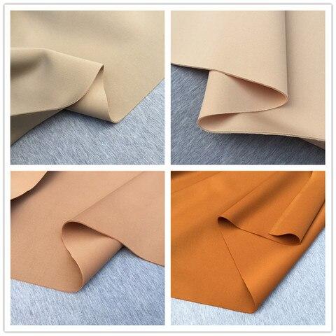 Moda de Tecido de Mergulho Material de Saia de Designer Marrom