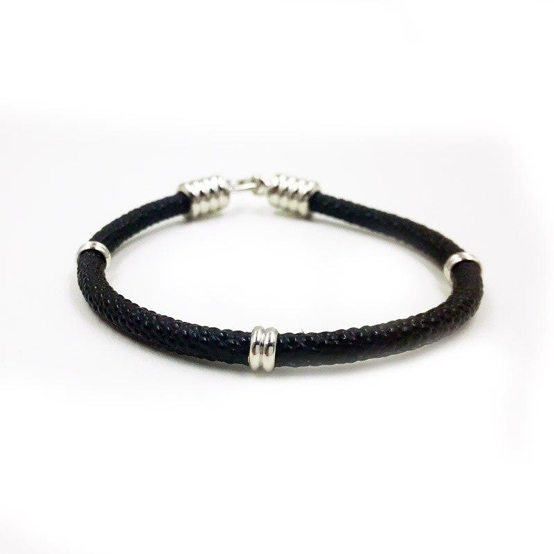 site réputé 34a8c 23936 Hot Sell Stingray Skin Bracelet ,Hand Made Silver Buckle One ...